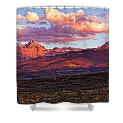 Sneffel's Range Sunset Shower Curtain