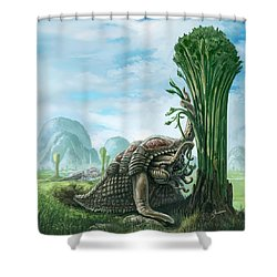 Snelephant Shower Curtain