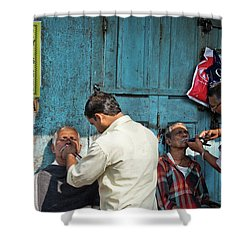 Snip And Tuck Shower Curtain by Marion Galt