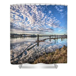 Snohomish River Bliss Shower Curtain