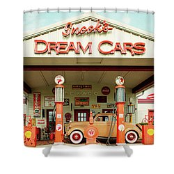 Snook's Dream Cars Shower Curtain