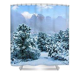 Snow 07-072 Shower Curtain by Scott McAllister