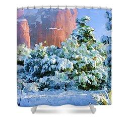 Snow 07-093 Shower Curtain by Scott McAllister