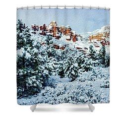Snow 09-007 Shower Curtain by Scott McAllister