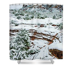 Snow 09-037 Shower Curtain by Scott McAllister