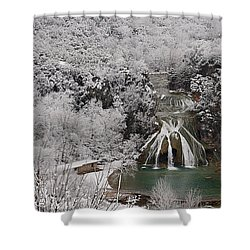 Snow And Turner Falls 2 Shower Curtain