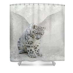 Shower Curtain featuring the digital art Snow Angel by Nicole Wilde