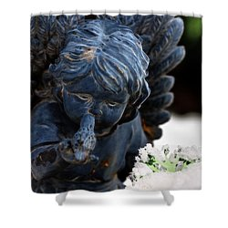 Shower Curtain featuring the photograph Snow Angel Whisperer by Shelley Neff