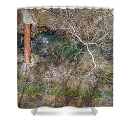 Snow Around The Creek Shower Curtain