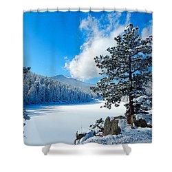 Snow At Beaver Brook Shower Curtain