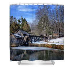 Snow At Mabry Mill Shower Curtain