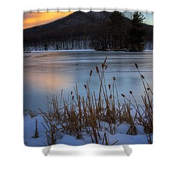 Snow At The Peaks Shower Curtain