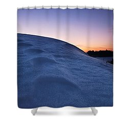 Snow Bank Shower Curtain by Hannes Cmarits