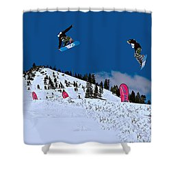 Snow Boarder Shower Curtain