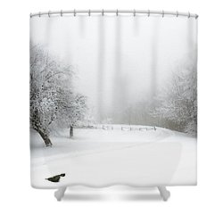 Snow Bound 2014 Shower Curtain