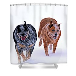 Snow Buddies Shower Curtain