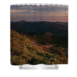 Snow Camp Lookout Shower Curtain by Leland D Howard