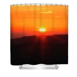 Shower Curtain featuring the photograph Snow Camp View 2 by Leland D Howard