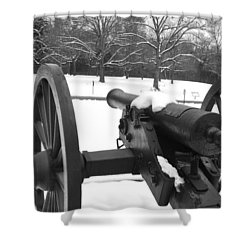Snow Canon Shower Curtain