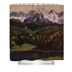 Snow Caped Mountain Shower Curtain