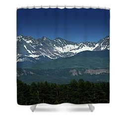 Snow Capped Mountains Shower Curtain