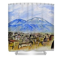 Snow Capped Vesuvio Shower Curtain