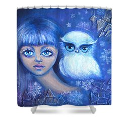 Snow Children Shower Curtain