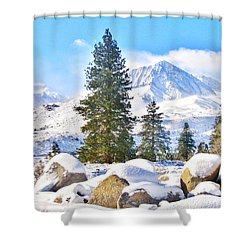 Snow Cool Shower Curtain