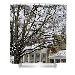 Snow Cover Shower Curtain