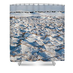 Snow Covered Grass Shower Curtain