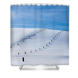 Snow Covered Pasture Shower Curtain