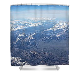 Snow Covered Rocky  Shower Curtain