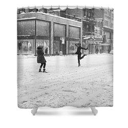 Snow Dance - Le - 10 X 16 Shower Curtain