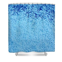 Shower Curtain featuring the digital art Snow Droplets  by Jennah Lenae