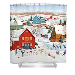 Snow Family  Shower Curtain
