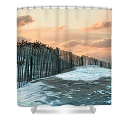 Shower Curtain featuring the photograph Snow Fence by Robin-Lee Vieira