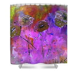 Snow Flowers Shower Curtain by Lisa Kaiser