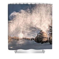 Snow Flume Shower Curtain