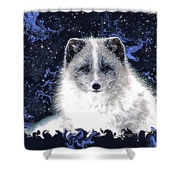 Snow Fox Shower Curtain