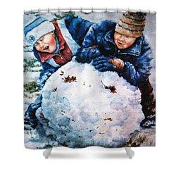 Snow Fun Shower Curtain by Hanne Lore Koehler