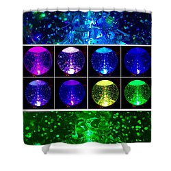 Snow Globe Abstract Shower Curtain