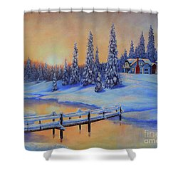 Snow Home Shower Curtain