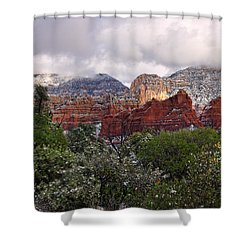 Snow In Heaven Shower Curtain