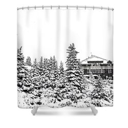 Shower Curtain featuring the photograph Snow In July 2 by Teresa Zieba