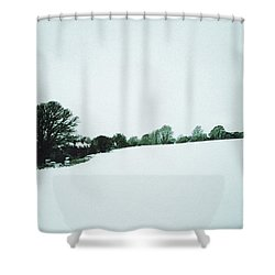 Snow In Sussex Shower Curtain