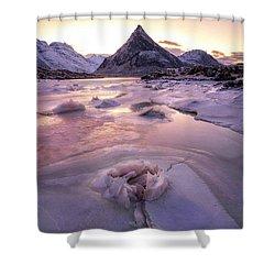 Snow Incredible Mountain Views Shower Curtain