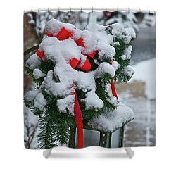 Snow Latern Shower Curtain