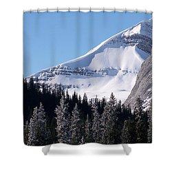Snow Ledge Shower Curtain by Greg Hammond