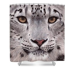Snow Leopard Face Shower Curtain