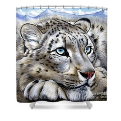 Snow-leopard's Dream Shower Curtain